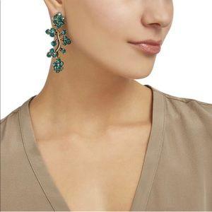 Green Crystal Earrings